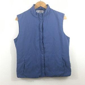 COLUMBIA Women's Blue Vest Size M